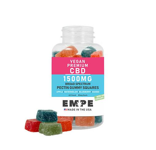 Broad Spectrum CBD Pectin Vegan Gummies 1500mg