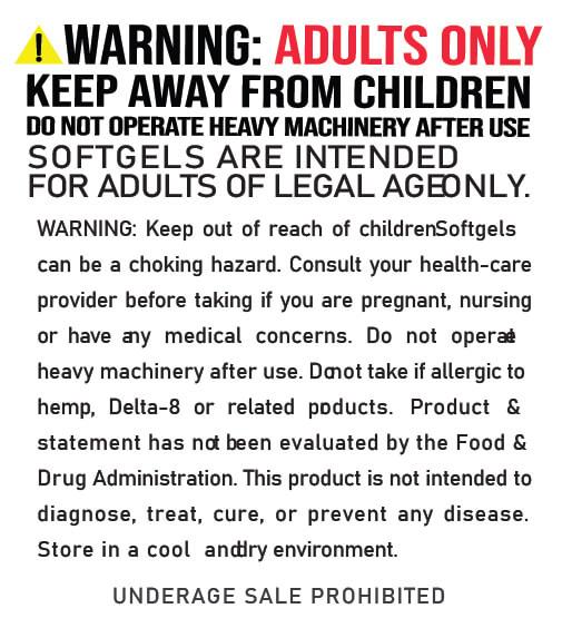 Delta 8 Softgels Warnings