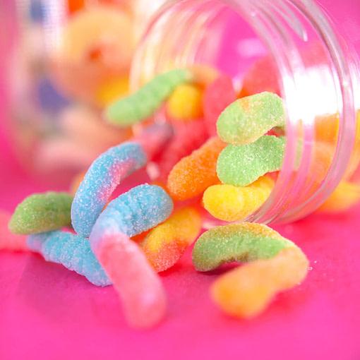 CBD Sour Worm Gummies 500mg - EMPE USA