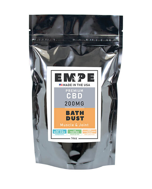 CBD Bath Dust Front Muscle and Joint
