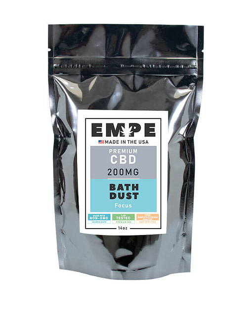 CBD Bath Dust Front Focus
