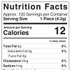 CBD Sour Bear Gummies 1800mg Nutrition Facts