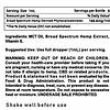 Ingredients and Warning Broad Spectrum CBD Tincture 5000mg