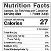 CBD Raspberry Sour Ring Gummies 1500mg Nutrition Facts