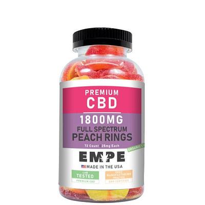 CBD Full Spectrum Peach Rings Gummies 1800mg