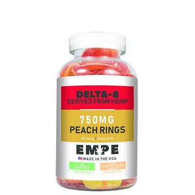 Delta-8 Peach Ring Gummies 750mg Empe-USA