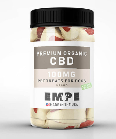 CBD Pet Treats for Dogs 100mg steak
