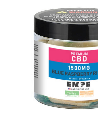 CBD gummies blue raspberry rings gummy 1500mg
