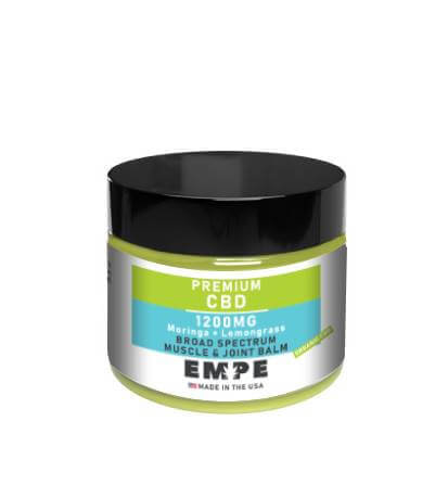 CBD Broad Spectrum Lemongrass Moringa Muscle Joint Balm 1200mg