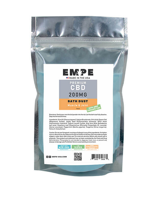 CBD Bath Dust Muscle and Joint Back