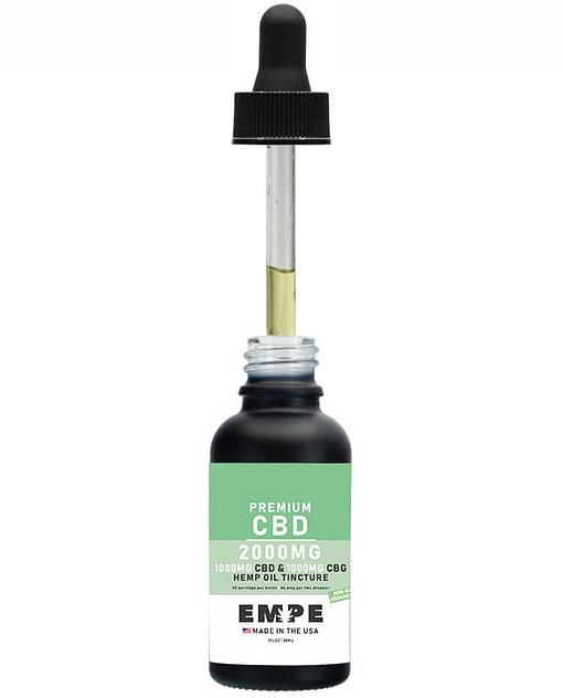 Full spectrum CBG CBD MCT oil tincture 2000mg 30ml Opened 2