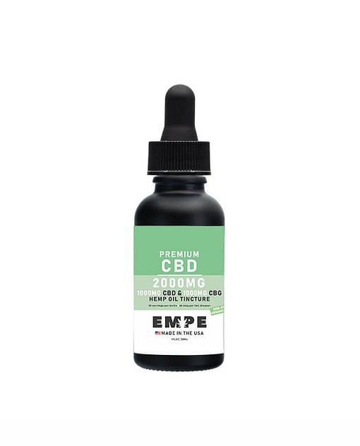 Full spectrum CBG CBD MCT oil tincture 2000mg 30ml